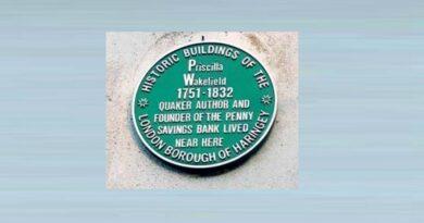 43. Priscilla Wakefield's Green Plaque