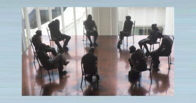 49. 'A Quaker Meeting' Sculpture